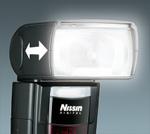 Nissin Di866 Mark Ii je vybaven motorickým zoomováním