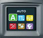 Barevný LCD displej s automatickou změnou orientace